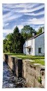 Delaware Canal Kingston New Jersey Bath Towel