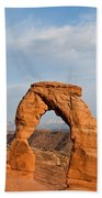 Delicate Arch At Sunset Bath Towel