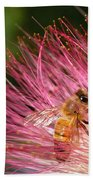 Delicate Embrace - Bee And Mimosa Bath Towel