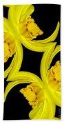 Delightful Daffodil Abstract Bath Towel