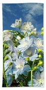 Delphinium Sky Original Bath Towel