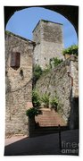 Desert Alley In San Gimignano Bath Towel