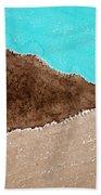 Desert Mountains Original Painting Bath Towel