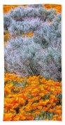 Desert Poppies And Sage Bath Towel