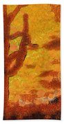 Desert Sunset Photo Art 04 Bath Towel