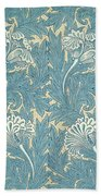 Design In Turquoise Bath Towel
