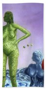 Detail From - The Dreamer's Night Hand Towel