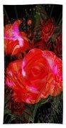 Detailed Roses Bath Towel