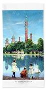 Detroit - Gladwin Waterworks Park - Jefferson Avenue At The Detroit River - 1905 Hand Towel