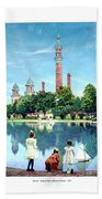 Detroit - Gladwin Waterworks Park - Jefferson Avenue At The Detroit River - 1905 Bath Towel