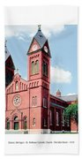 Detroit - Sheridan Avenue - St Anthony Catholic Church - 1910 Bath Towel