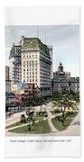 Detroit - Cadillac Square - 1905 Bath Towel
