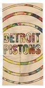 Detroit Pistons Vintage Logo Bath Towel