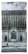 Detroit's Abandoned Michigan Central Train Station Depot Hand Towel