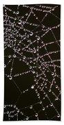 Dew Drops On Spider Web 4 Bath Towel