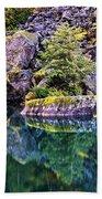 Diablo Lake Reflection Bath Towel
