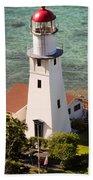 Diamond Head Lighthouse Honolulu Bath Towel