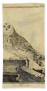 Die Stein Eule Or Church Owl Bath Towel