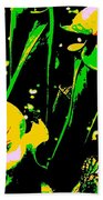 Digital Green Yellow Abstract Bath Towel