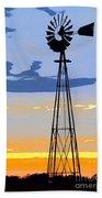 Digital Windmill-vertical Bath Towel