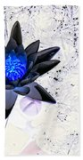 Digitally Altered Water Lily Bath Towel