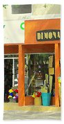 Dimona Latin Quarter Romantic Morning Summer Stroll Pretty Streets Montreal City Scene C Spandau Bath Towel