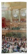 Dinner In The Salle Des Spectacles At Versailles Bath Towel