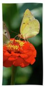 Dinner Table For Two Butterflies Bath Towel