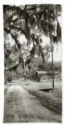 Dirt Road On Coosaw Plantation Bath Towel