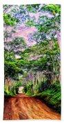 Dirt Road To Secret Beach On Kauai Bath Towel