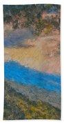 Distant Mountains - Digital Impression Paint Bath Towel