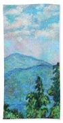 Distant View Of Peaks Of Otter Bath Towel