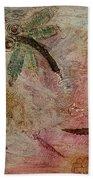Rustic Dragonflies Pinks Bath Towel