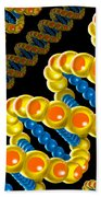 Dna Strand - Dna Strands Art - Genetics Genetic - Gene Genes - Conceptual - Square Format Image Bath Towel