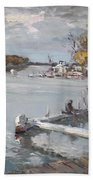 Dock At The Bay North Tonawanda Bath Towel