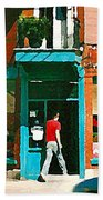 Documenting Vintage Montreal Depanneur Deli Wilensky Montreal Restaurant Paintings Cspandau  Art Bath Towel