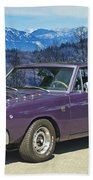 Dodge- Mountain Background Bath Towel