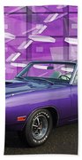 Dodge Rt Purple Abstract Background Bath Towel