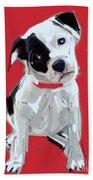 Dog Doggie Red Bath Towel