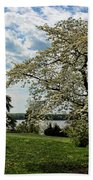 Dogwoods In Summer Bath Towel