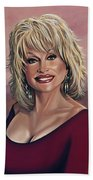 Dolly Parton 2 Hand Towel by Paul Meijering