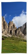 Dolomites In Badia Valley  Bath Towel
