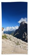 Dolomites -pale San Martino Group Bath Towel