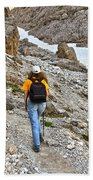 Dolomiti - Hiker In Val Setus Bath Towel