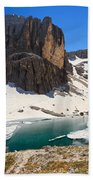 Dolomiti - Pisciadu Lake Bath Towel