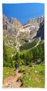 Dolomiti -landscape In Contrin Valley Bath Towel