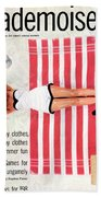 Dolores Hawkins On A Beach Bath Towel