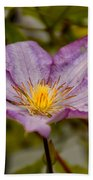 Donna's Purple Flower Bath Towel