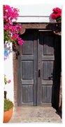 Doorway Oia Santorini Greek Islands Bath Towel