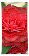 Double Blossom Camelias Bath Towel